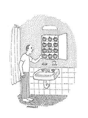 Snack Drawing - New Yorker August 22nd, 1977 by Robert Mankoff