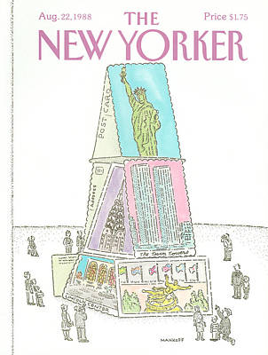 Rockefeller Plaza Painting - New Yorker August 22nd, 1988 by Robert Mankoff