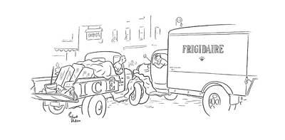 Transportation Drawing - New Yorker August 23rd, 1941 by Richard Decker