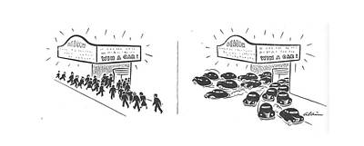 Driving Out Drawing - New Yorker August 24th, 1940 by  Alain