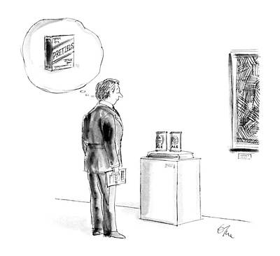 Stare Drawing - New Yorker August 24th, 1987 by Everett Opie