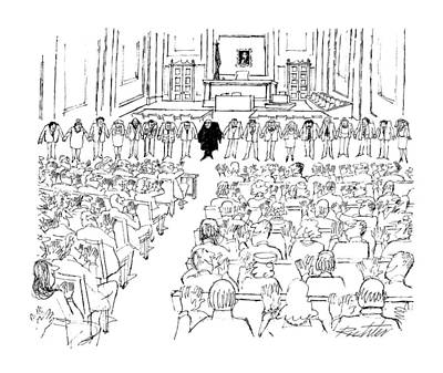 Stood Drawing - New Yorker August 24th, 1987 by Mischa Richter