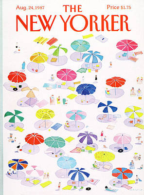 Leisure Painting - New Yorker August 24th, 1987 by Susan Davis
