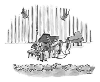 Mechanic Drawing - New Yorker August 24th, 1998 by J.P. Rini
