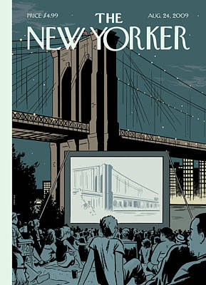2009 Painting - New Yorker August 24th, 2009 by Adrian Tomine
