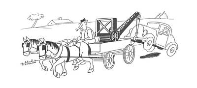 Transportation Drawing - New Yorker August 26th, 1944 by Otto Soglow