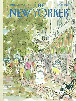 Storefront Painting - New Yorker August 26th, 1985 by James Stevenson