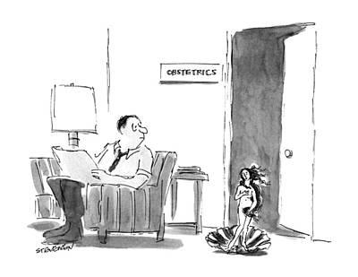 Venus Drawing - New Yorker August 26th, 1991 by James Stevenson