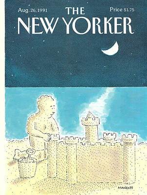 Moonlit Painting - New Yorker August 26th, 1991 by Robert Mankoff