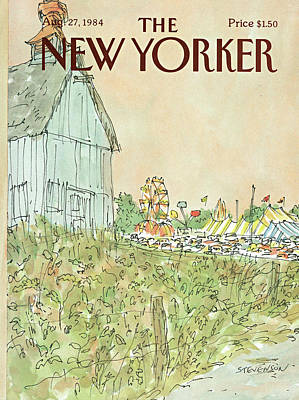 Amusement Parks Painting - New Yorker August 27th, 1984 by James Stevenson