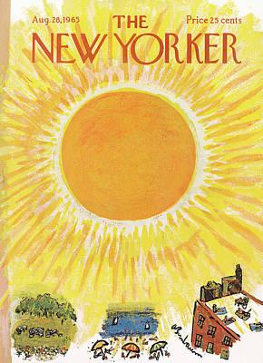 Abe Birnbaum Painting - New Yorker August 28th, 1965 by Abe Birnbaum