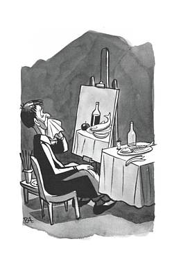 Banana Drawing - New Yorker August 2nd, 1941 by Peter Arno