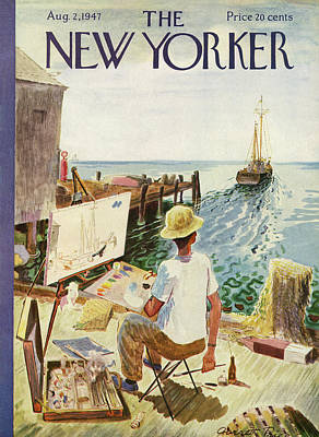 Boat Painting - New Yorker August 2nd, 1947 by Garrett Price