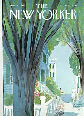 Village Painting - New Yorker August 30th, 1969 by Arthur Getz