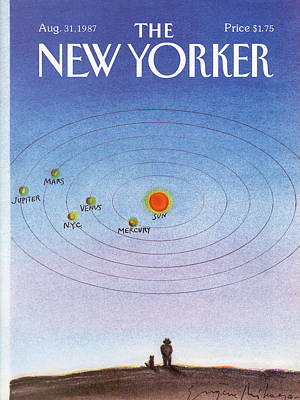 Nyc Painting - New Yorker August 31st, 1987 by Eugene Mihaesco