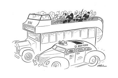 Bus Drawing - New Yorker August 3rd, 1940 by  Alain