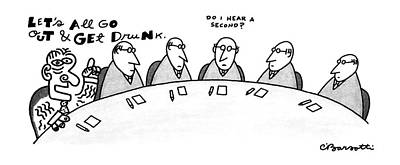 New Yorker August 3rd, 1987 Art Print by Charles Barsotti