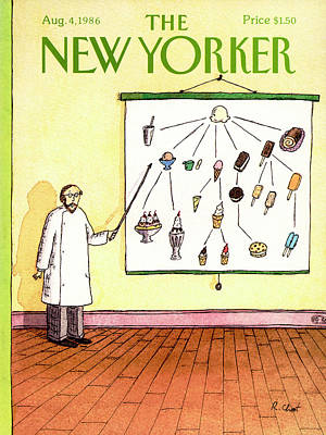 Chart Painting - New Yorker August 4th, 1986 by Roz Chast