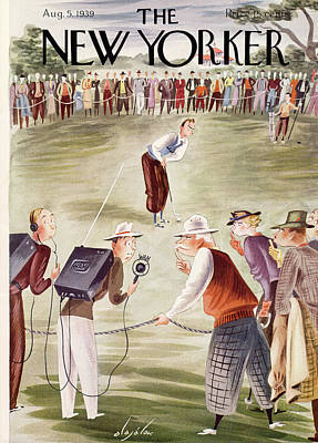 Golf Painting - New Yorker August 5th, 1939 by Constantin Alajalov