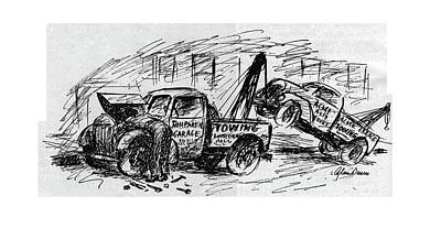 Truck Drawing - New Yorker August 5th, 1944 by Alan Dunn