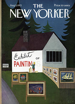 Exhibits Painting - New Yorker August 5th, 1972 by Charles E. Martin