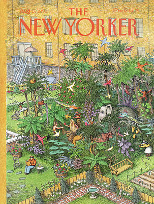 Garden-of-eden Painting - New Yorker August 5th, 1991 by John O'Brien