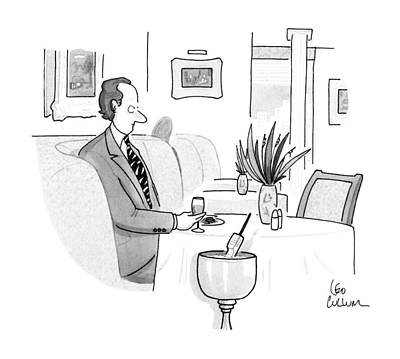 Wine Drawing - New Yorker August 5th, 1991 by Leo Cullum