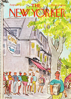 Gift Painting - New Yorker August 6th, 1973 by Charles Saxon