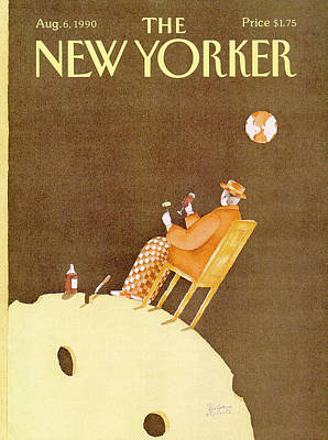 Red Wine Painting - New Yorker August 6th, 1990 by Victoria Roberts