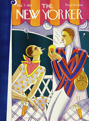 Drink Painting - New Yorker August 7 1926 by Stanley W. Reynolds