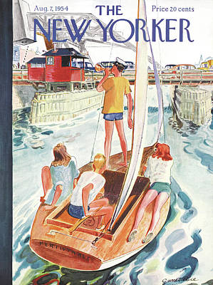 Sailboat Painting - New Yorker August 7th, 1954 by Garrett Price