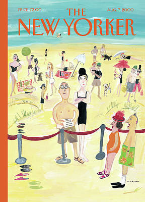 2000 Painting - New Yorker August 7th, 2000 by Maira Kalman