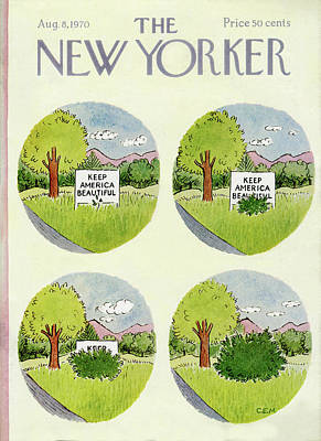 Keep Painting - New Yorker August 8th, 1970 by Charles E. Martin