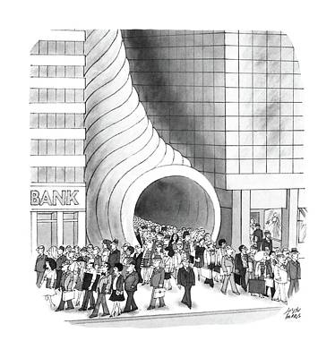 Cornucopia Drawing - New Yorker August 8th, 1988 by Joseph Farris