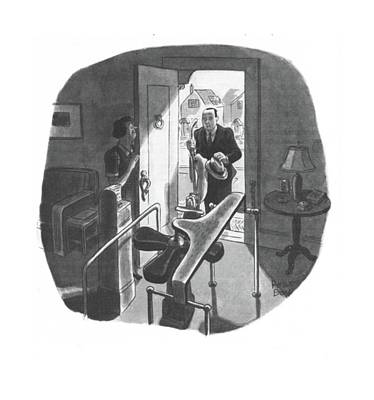 Storefront Drawing - New Yorker August 9th, 1941 by Robert J. Day