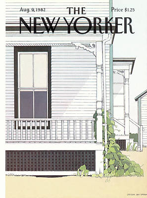 Side Porch Painting - New Yorker August 9th, 1982 by Gretchen Dow Simpson