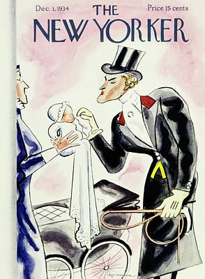 Wipe Painting - New Yorker December 1 1934 by Leonard Dove