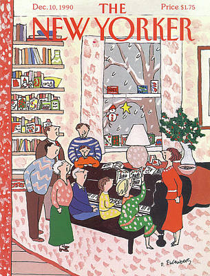 Winter Painting - New Yorker December 10th, 1990 by Devera Ehrenberg