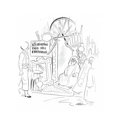 Muslims Of The World Drawing - New Yorker December 11th, 1943 by  Alain