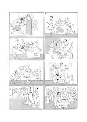 Drunk Drawing - New Yorker December 12th, 1942 by Roberta Macdonald