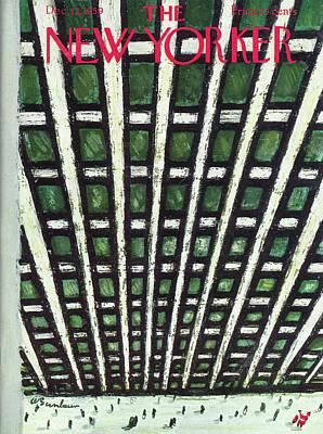 Abe Birnbaum Painting - New Yorker December 12th, 1959 by Abe Birnbaum