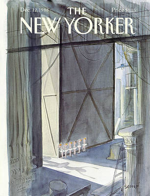 Backstage Painting - New Yorker December 12th, 1988 by Jean-Jacques Sempe