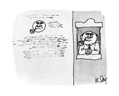 Mouth Drawing - New Yorker December 12th, 1988 by William Steig