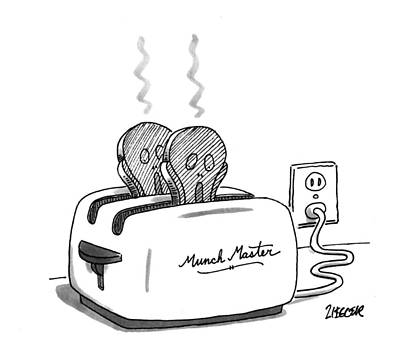 Toaster Drawing - New Yorker December 12th, 1994 by Jack Ziegler