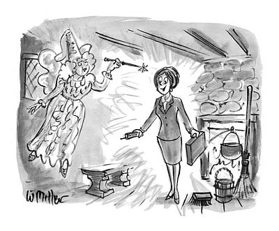 Feminism Drawing - New Yorker December 13th, 1993 by Warren Miller