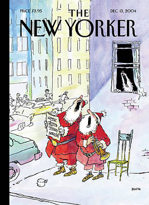 Santa Painting - New Yorker December 13th, 2004 by George Booth