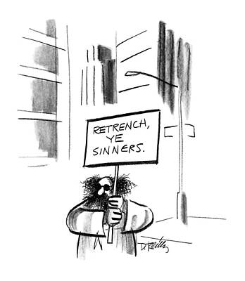 Sinners Drawing - New Yorker December 14th, 1987 by Donald Reilly
