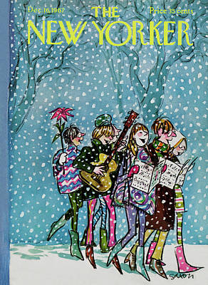 New Yorker December 16th, 1967 Art Print by Charles Saxon