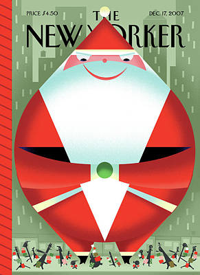Painting - New Yorker December 17th, 2007 by Bob Staake