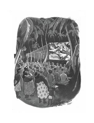 Native Drawing - New Yorker December 18th, 1943 by Richard Decker